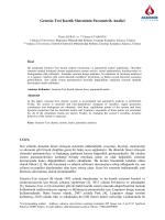 Genesıo-Tesı Kaotik Sisteminin Parametrik Analizi