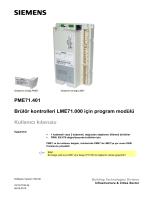 PME71.401 Brülör kontrolleri LME71.000 için program