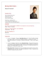 Berkay Zafer Erdem - Civil Engineering Department