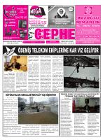 13.01.2015 Tarihli Cephe Gazetesi