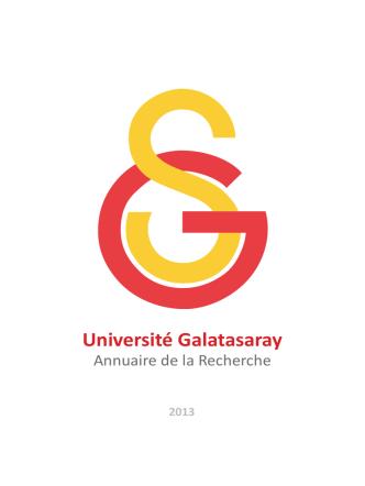Annuaire de la Recherche - Galatasaray Üniversitesi
