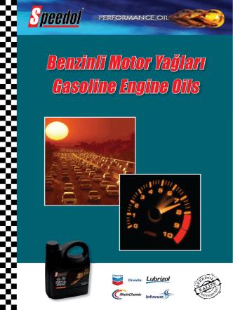 Benzinli Motor Yağları Gasoline Engine Oils
