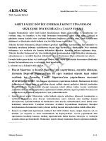 Konut Finansmanı Sözleşme Öncesi Bilgi ve Talep Formu
