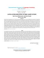 Âşık Garip Hikâyesinde Aşk-Âşık-Sevgili