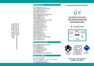 altıncı ulusal geosentetikler konferansı