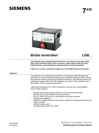 7435 Brülör kontrolleri LGB