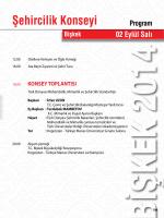 Program detayları için tıklayınız - Türk Dünyası Belediyeler Birliği