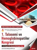 1. Talasemi ve Hemoglobinopatiler Kongresi