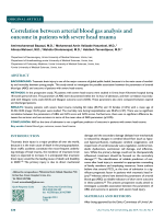 Correlation between arterial blood gas analysis and