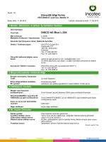 Güvenlik bilgi formu DISCO AG Blue L-204