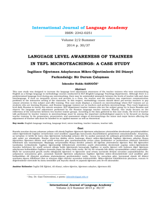A CASE STUDY - International Journal of Language Academy
