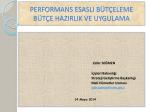 performans esaslı bütçeleme bütçe hazırlık ve uygulama