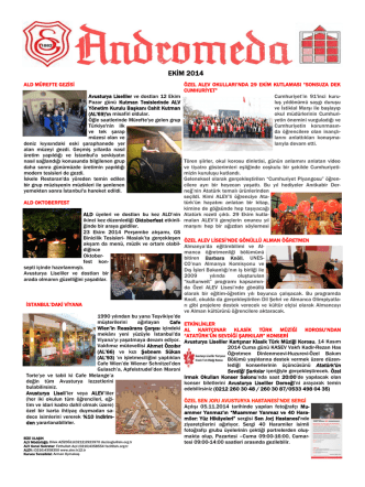 Andromeda Ekim 2014 sayısı (pdf)
