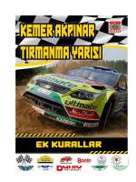 EK KURALLAR - Antalya Motorsporları Kulübü