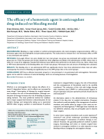 The efficacy of a hemostatic agent in anticoagulant