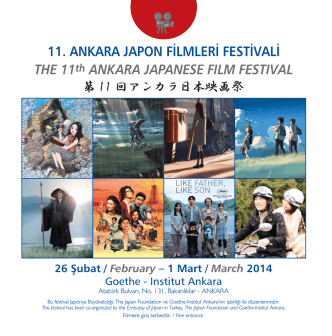 11. ANKARA JAPON FİLMLERİ FESTİVALİ THE 11th ANKARA