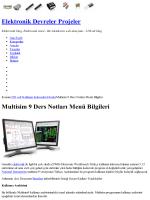 Multisim 9 Ders Notları Menü Bilgileri » Elektronik Sitesi