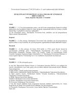 Üniversitemiz Senatosunun 27.06.2014 tarih ve 11 sayılı