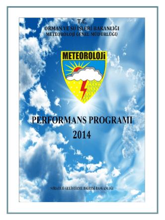 2014 Yılı Performans Programı
