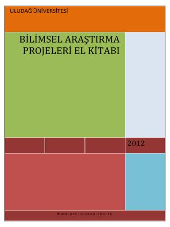 bap el kitabı - Uludağ Üniversitesi Proje Yönetim Merkezi