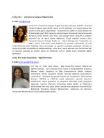 Katılımcı Özgeçmişleri ve İletişim Bilgileri