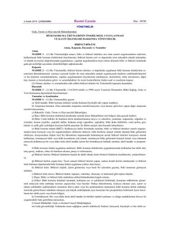 Bitki Koruma Ürünlerinin Önerilmesi,Uygulanması ve Kayıt