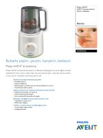 SCF870/22 Philips AVENT Kombine Buharlı Pişirici ve Blender