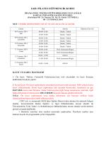 I.KD. PİLATES EĞİTMENLİK KURSU - Türkiye Cimnastik Federasyonu