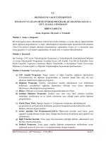 Önlisans ve Lisans Düzeyindeki Programlar Arasında ve Çiftanadal