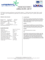 LOXEAL 33-47M + AKT 17 TEKNİK BİLGİ FORMU
