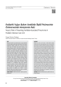 Pediatrik Yoğun Bakım Ventilatör İlişkili Pnömoninin
