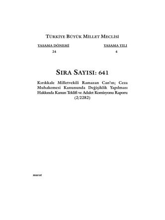 641 - Türkiye Büyük Millet Meclisi