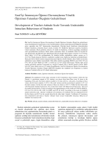 Sınıf İçi İstenmeyen Öğrenci Davranışlarına Yönelik