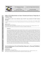 Effect of Feed Restriction on Some Chemical and Sensory