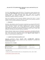 2014-DGS İLE ÜNİVERSİTEMİZE YERLEŞEN ADAYLARIN KESİN