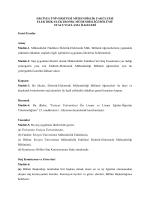 Elektrik-Elektronik Mühendisliği Bölümü Staj Esasları