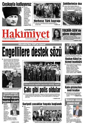 29 ekim.qxd - Çorum Hakimiyet Gazetesi