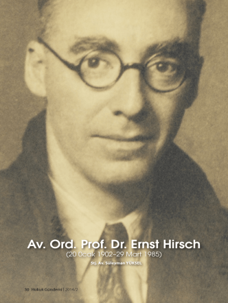 Av. Ord. Prof. Dr. Ernst Hirsch