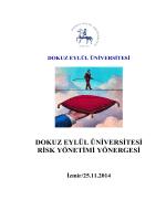 Dokuz Eylül Üniversitesi Risk Yönetimi Yönergesi