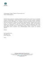 Volkswagen Doğuş Tüketici Finansmanı A.Ş. Genel