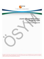 LİSANS YERLEŞTİRME SINAVI-1 GEOMETRİ TESTİ 15 HAZİRAN