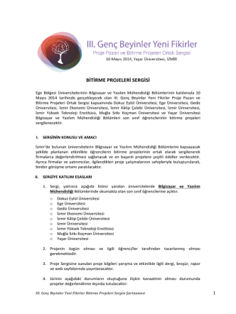 BİTİRME PROJELERİ SERGİSİ - Ebiltem