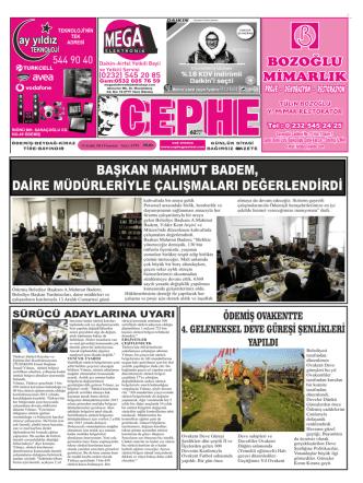 15.12.2014 Tarihli Cephe Gazetesi