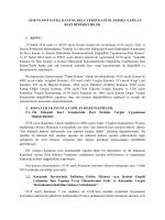 6518 Ve 6519 Sayılı Kanunlarla Vergi