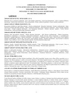 2014-2015 öğretim yılı ders içerikleri
