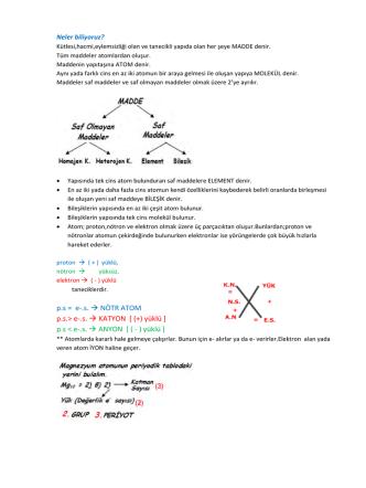 8 fen 3 8 1 elementler periyodik cetvel ders notu1