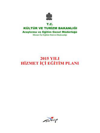 2015 yılı hizmet içi eğitim planı