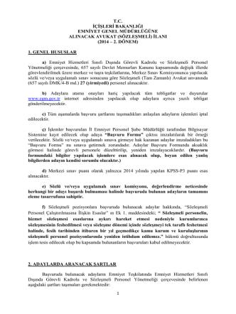 2014 – 2. dönem - Emniyet Genel Müdürlüğü