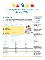 Temel Eğitimden Ortaöğretime Geçiş Sistemi (TEOG)