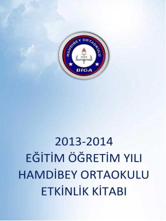2013-2014 eğitim öğretim yılı hamdibey ortaokulu etkinlik kitabı